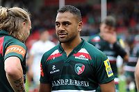 Telusa Veainu of Leicester Tigers looks dejected after the match. Aviva Premiership match, between Leicester Tigers and Bath Rugby on September 3, 2017 at Welford Road in Leicester, England. Photo by: Patrick Khachfe / Onside Images