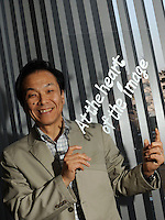 Goto Tetsuro, one of the chairman of Nikon Cie, posed in  Nikon Office in Tokyo, Japan.<br />23 Feb 2010