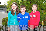Pictured at a charity walk in aid of Fr. Tim Galvin's missions in South Sudan on Sunday in Abbeyfeale were Lena and Christian Foley and Caoimhe Scannell Abbeyfeale.