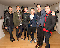 Ivan Estrada, David Cruz, Sean Scott, Kyle Chan, Peter Luis Venero and Geo Louis attend Levitation Activewear presents Sean Scott's Birthday Bash at SKYBAR on Dec. 17, 2015 (Photo by Inae Bloom/Guest of a Guest)