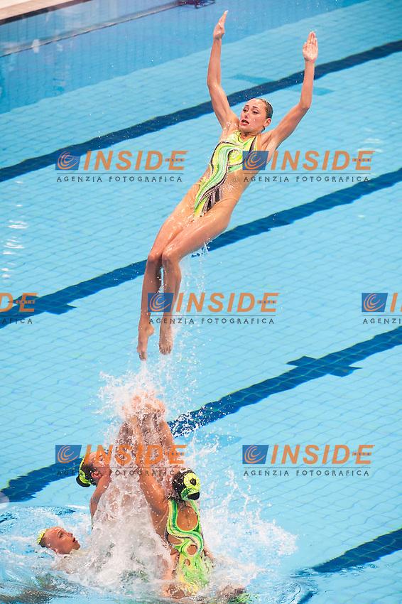Team UKR<br /> London, Queen Elizabeth II Olympic Park Pool <br /> LEN 2016 European Aquatics Elite Championships <br /> Synchro<br /> Team technical final <br /> Day 01 09-05-2016<br /> Photo Giorgio Perottino/Deepbluemedia/Insidefoto
