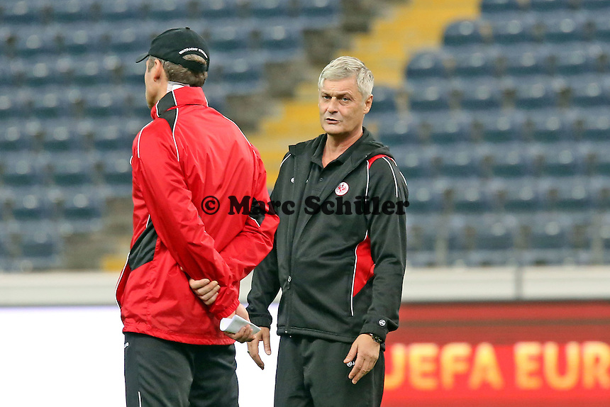 Trainer Armin Veh (Eintracht) - Eintracht Europa League Training