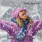 Marcello, CHRISTMAS CHILDREN, WEIHNACHTEN KINDER, NAVIDAD NIÑOS, paintings+++++,ITMCXM1137B,#xk# ,playing in snow