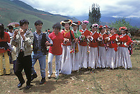 "Matriarchal Mosuo women dress in traditional costume and dance the ""fertility dance"" at an annual festival under Lioness Mountain to the fertility Goddess Ganmo. Women from the Mosuo tribe do not marry, take as many lovers as they wish and have no word for ""father"" or ""husband"". But the arrival of tourism and the sex industry is changing their culture...PHOTO BY SINOPIX"