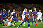 UEFA Champions League 2017/2018.<br /> Quarter-finals 1st leg.<br /> FC Barcelona vs AS Roma: 4-1.<br /> Luis Suarez.