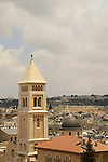 Israel, Jerusalem, the bell tower of the Church of the Redeemer