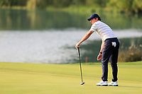 Rory McIlroy (NIR) on the 9th green during round 1 at the WGC HSBC Champions, Sheshan Golf Club, Shanghai, China. 31/10/2019.<br /> Picture Fran Caffrey / Golffile.ie<br /> <br /> All photo usage must carry mandatory copyright credit (© Golffile | Fran Caffrey)