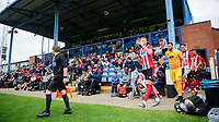 Lincoln City's Cian Bolger leads his team-mates out ahead of the game<br /> <br /> Photographer Chris Vaughan/CameraSport<br /> <br /> Football Pre-Season Friendly (Community Festival of Lincolnshire) - Lincoln City v Lincoln United - Saturday 6th July 2019 - The Martin & Co Arena - Gainsborough<br /> <br /> World Copyright © 2018 CameraSport. All rights reserved. 43 Linden Ave. Countesthorpe. Leicester. England. LE8 5PG - Tel: +44 (0) 116 277 4147 - admin@camerasport.com - www.camerasport.com