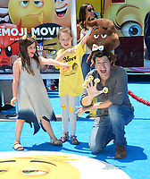 Ken Marino &amp; Ruby Marino &amp; Riley Ken'ichi Marino at the world premiere for &quot;The Emoji Movie&quot; at the Regency Village Theatre, Westwood. Los Angeles, USA 23 July  2017<br /> Picture: Paul Smith/Featureflash/SilverHub 0208 004 5359 sales@silverhubmedia.com