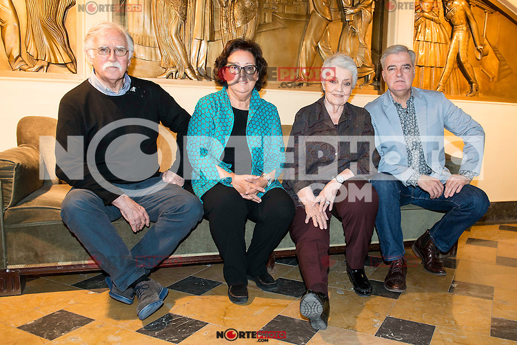 The left to the right, Carlos Zubiaga, Estibaliz Uranga, Amaya Uranga and Iñaki Uranga from the Spanish group El Consorcio, posed for the photographers at Teatro Nuevo Apolo in Madrid. April 28, 2016. (ALTERPHOTOS/Borja B.Hojas) /NortePhoto