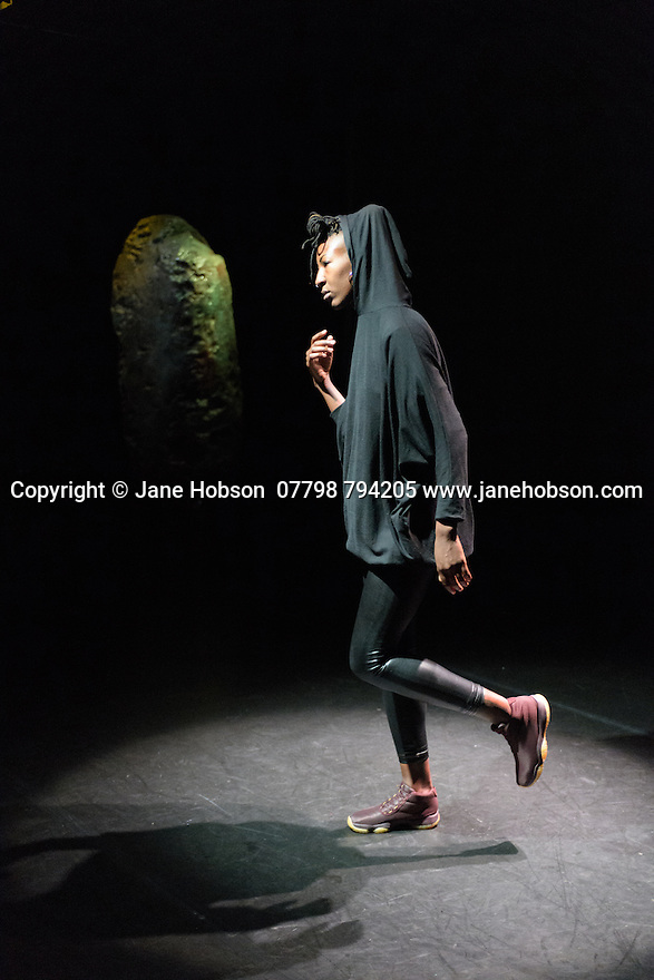 "Jamila Johnson-Small in her work ""i ride in colour and soft focus, no longer anywhere"", at Rich Mix, as part of the Dance Umbrella festival."