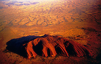 Aerial view over Ayers Rock, Australia