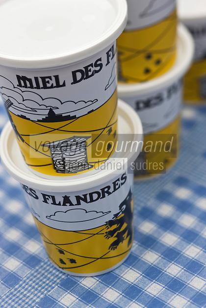Europe/France/Nord-Pas-de-Calais/59/Nord/Dunkerque: Sur le marché pots de miel des Flandres