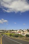 Israel, Lower Galilee. Circassian village Kfar Kama as seen from road 767