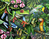 Lori, REALISTIC ANIMALS, REALISTISCHE TIERE, ANIMALES REALISTICOS, paintings+++++Frogs In The Mist_2013_72,USLS16,#A#, EVERYDAY ,puzzles