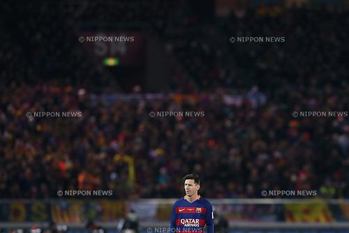 Lionel Messi (Barcelona), <br /> DECEMBER 20, 2015 - Football / Soccer : <br /> FIFA Club World Cup Japan 2015 <br /> Final match between River Plate 0-3 Barcelona  <br /> at Yokohama International Stadium in Kanagawa, Japan.<br /> (Photo by Yohei Osada/AFLO SPORT)