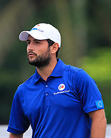 Alexander Levy (Europe) on the 2nd tee during the Singles Matches of the Eurasia Cup at Glenmarie Golf and Country Club on the Sunday 14th January 2018.<br /> Picture:  Thos Caffrey / www.golffile.ie