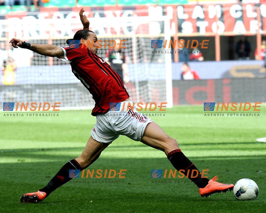 "Zlatan IBRAHIMOVIC (Milan).Milano 07/04/2012 Stadio ""Giuseppe Meazza"".Serie A 2011/2012.Football Calcio Milan Vs Fiorentina.Foto Insidefoto Alessandro Sabattini."