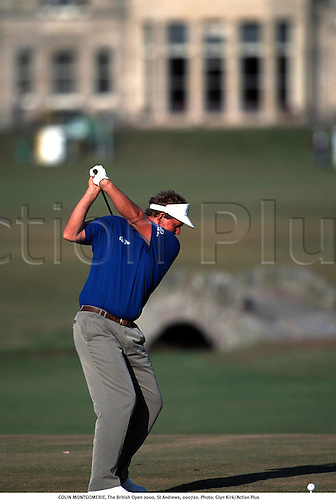 COLIN MONTGOMERIE, The British Open 2000, St Andrews, 000720. Photo: Glyn Kirk/Action Plus......2000..golf..golfer golfers..rear..backshot..behind