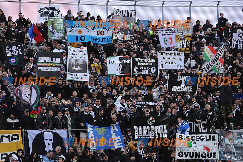 Tifosi Juventus - supporters - Livorno 24-11-2013 Stadio Armando Picchi - Football Calcio Campionato Italiano Serie A 2013/2014 - Livorno - Juventus  Foto Andrea Staccioli / Insidefoto