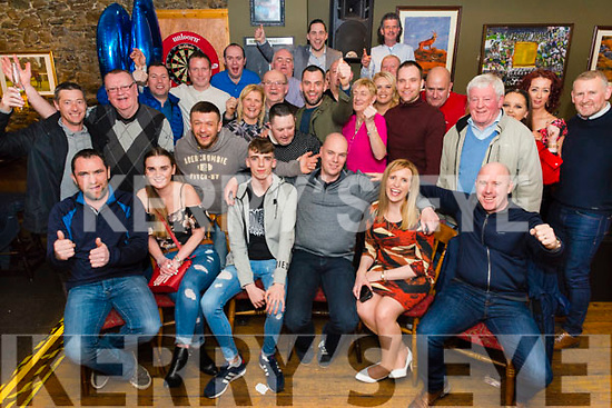 John Lynch from Killarney celebrated his 40th birthday surrounded by friends and family in the Sportsman Bar, Killarney last Saturday night.