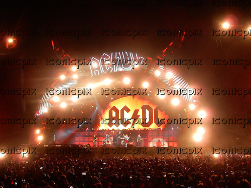 AC/DC - Axl Rose - performing live at the Passeio Martimo De Alge in Lisbon Portugal - <br /> 07 May 2016.  Photo credit:  Thomas Zeidler/Dalle/IconicPix