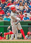 11 September 2016: Philadelphia Phillies outfielder and Baseball America top prospect Roman Quinn makes his major league debut against the Washington Nationals at Nationals Park in Washington, DC. The Nationals edged out the Phillies 3-2 to take the rubber match of their 3-game series. Mandatory Credit: Ed Wolfstein Photo *** RAW (NEF) Image File Available ***
