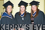 HONOURS: Christina Myers, Farranfore and twins Cecelia and Mary Quirke, Abbeyfeale who received their Honours BA degrees in Information Systems Management from ITT at the Brandon Hotel on Friday.   Copyright Kerry's Eye 2008