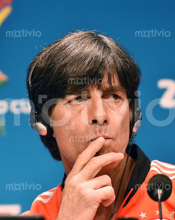 FUSSBALL WM 2014  Viertelfinale in Rio Frankreich - Deutschland               03.07.2014 Pressekonferenz Deutschland: Bundestrainer Joachim Loew