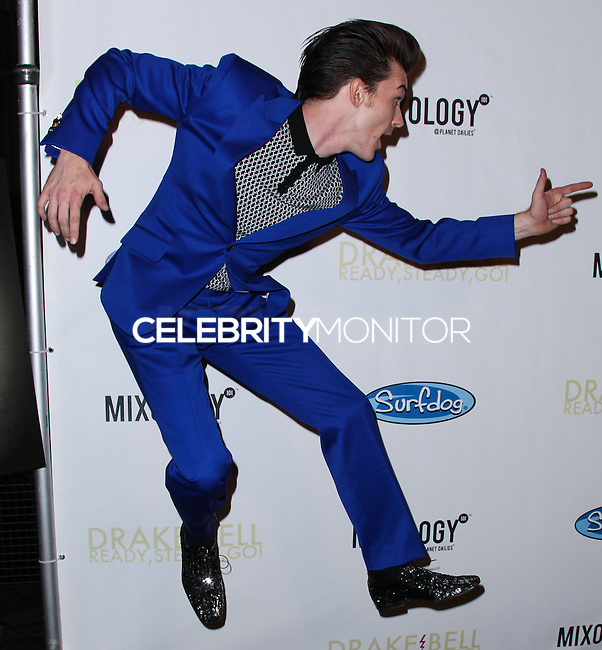 "LOS ANGELES, CA, USA - APRIL 17: Drake Bell arrives at the Drake Bell ""Ready Steady Go!"" Album Release Party held at Mixology101 & Planet Dailies on April 17, 2014 in Los Angeles, California, United States. (Photo by Xavier Collin/Celebrity Monitor)"