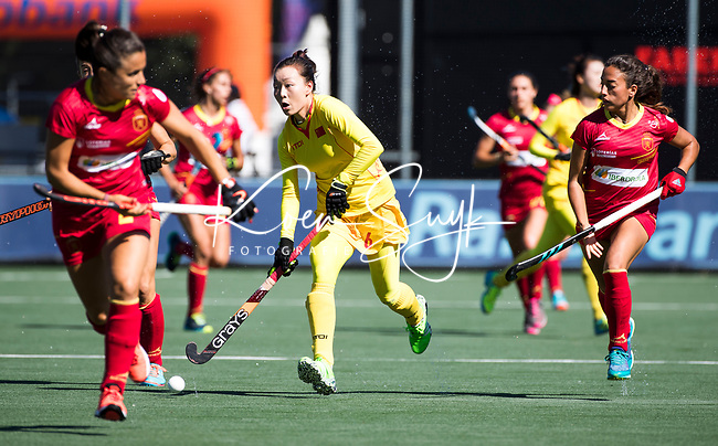 BREDA -  Wanli Tang (Chn)  tijdens Spanje-China bij de 4 Nations Trophy dames 2018 .  COPYRIGHT  KOEN SUYK