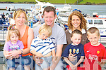 Enjoying the boat show at Caherciveen Marina on Saturday was front row l-r: Cliona O'Shea, Jack O'Connor, Darragh O'Shea, Tadgh O'Connor. Back row: Mary B O'Shea, John Paul O'Connor and Rebecca O'Connor   Copyright Kerry's Eye 2008