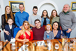 Cormac Sertutxa from Tralee celebrating his 21st birthday in Bella Bia on Saturday night.<br /> Front l to r: Rian Moynihan, Rachel Quirke, Cormac Sertutxa, Saoirse and Clodagh Moynihan.<br /> Back l to r: Michelle and Jamie Moynihan, Niall and Alazne Sertutxa, Rebecca Keating and Barry Heffernan.
