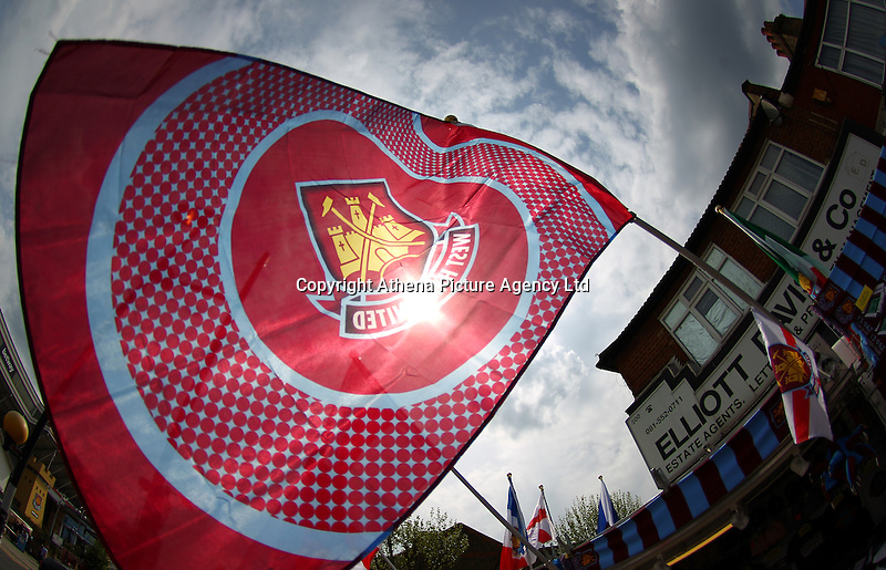 West Ham United flag  during the Barclays Premier League match between West Ham United and Swansea City  played at Boleyn Ground , London on 7th May 2016