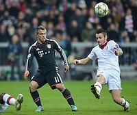 FUSSBALL   CHAMPIONS LEAGUE   SAISON 2012/2013   GRUPPENPHASE   FC Bayern Muenchen - LOSC Lille                          07.11.2012 Xherdan Shaqiri (li, FC Bayern Muenchen) gegen Mathieu Debuchy (LOSC Lille)