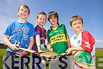 Enjoying the Kelloggs Hurling Cul Camps in Causeway on Friday were: Sean O'Hanlon, Cian Diggan, Ben Cantillon and Kieran Sheehan.