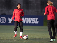 Seattle, WA - Saturday March 24, 2018: Francisca Ordega during a regular season National Women's Soccer League (NWSL) match between the Seattle Reign FC and the Washington Spirit at the UW Medicine Pitch at Memorial Stadium.