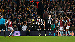 Conor Hourihane of Aston Villa scores the first goal from a free kick during the Premier League match at Villa Park, Birmingham. Picture date: 25th November 2019. Picture credit should read: Darren Staples/Sportimage