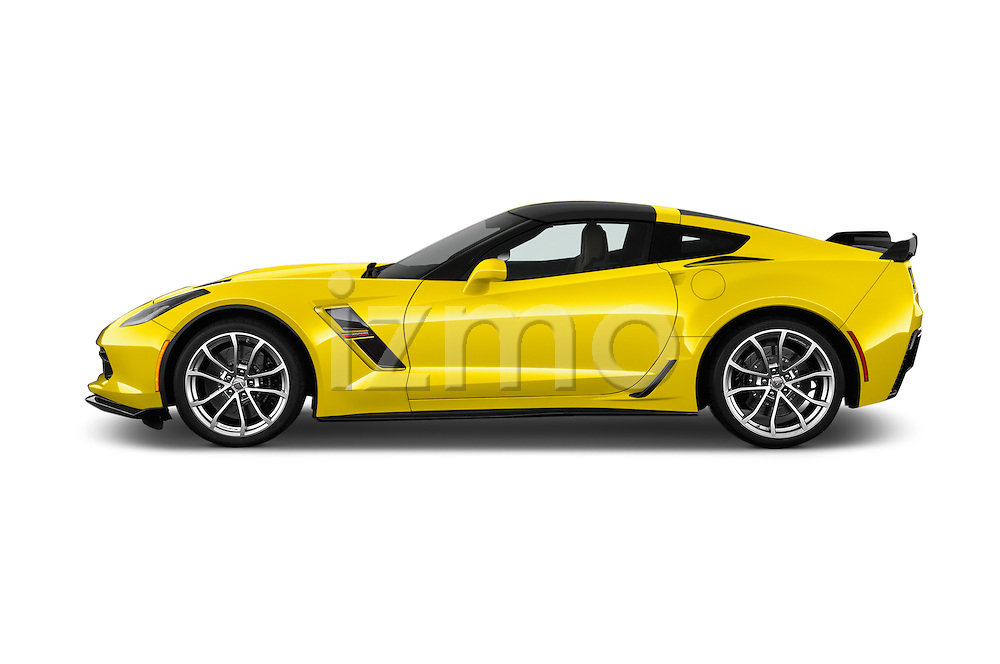 Car Driver side profile view of a 2018 Chevrolet Corvette Grand-Sport-2LT 3 Door Coupe Side View