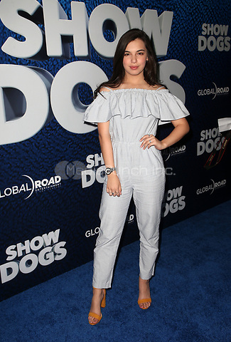 HOLLYWOOD, CA - MAY 5: Isabella Gomez, at the Show Dogs film premiere at the TCL Chinese Theatre in Hollywood, California on May 5, 2018. Credit: Faye Sadou/MediaPunch