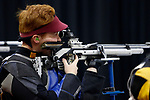 COLUMBUS, OH - MARCH 11:  Soren Butler, of the University of Alaska Fairbanks, competes during the Division I Rifle Championships held at The French Field House on the Ohio State University campus on March 11, 2017 in Columbus, Ohio. (Photo by Jay LaPrete/NCAA Photos via Getty Images)