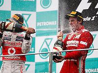 SEPANG, MALASIA, 25 DE MARCO 2012 - F1 - GP MALASIA  - O piloto espanhol Fernando Alonso, da Ferrari, durante o GP da Malásia, no circuito de Kuala Lumpur, em Sepang, neste domingo, 26. (FOTO: THOCH ZWEI /  BRAZIL PHOTO PRESS).