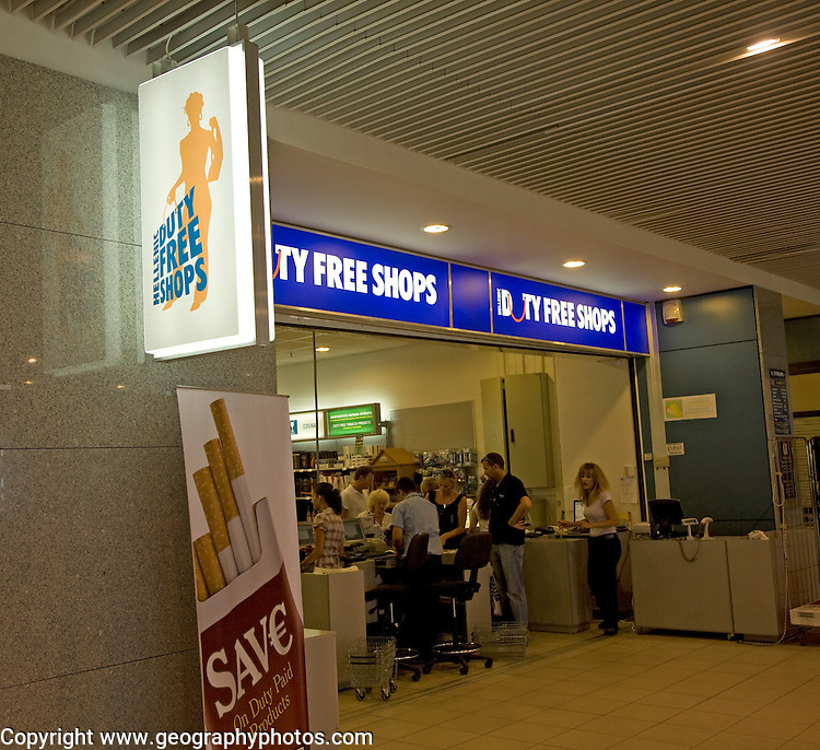 Duty Free shopping, Rhodes airport, Greece