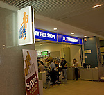 Duty Free shopping, Rhodes airport, Greece