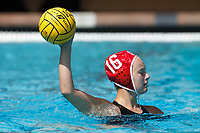 Stanford, CA - March 23, 2019: Lauren Indart during the Stanford vs. Harvard women's water polo game at Avery Aquatic Center Saturday.<br /> <br /> The Cardinal won 20-7.