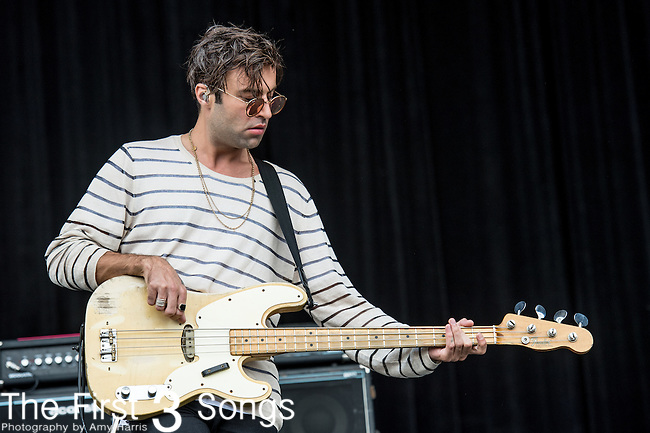Max Rafferty of The Kooks performs at the Outside Lands Music & Art Festival at Golden Gate Park in San Francisco, California.