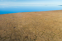 Geological feature of Polygons on the Arctic coastal plain along the Beaufort Sea, Arctic National Wildlife Refuge, Alaska.