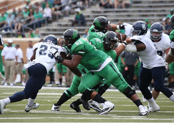 DENTON, TX - SEPTEMBER 19: University of North Texas Mean Green v Rice University at  Apogee Stadium on September 19, 2015 in Denton, Texas. (Photo by Rick Yeatts)