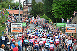 The peloton on the second ascent of Mur de Huy during the 83rd edition of La Fl&egrave;che Wallonne 2019, running 195km from Ans to Huy, Belgium. 24th April 2019<br /> Picture: ASO/Gautier Demouveaux | Cyclefile<br /> All photos usage must carry mandatory copyright credit (&copy; Cyclefile | ASO/Gautier Demouveaux)