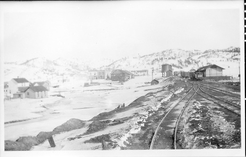 CM yard scenie at Florissant in 1915.<br /> Colorado Midland  Florissant, CO  1915